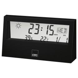 Stacja pogodowa z zegarem Clatronic WSU 7022 (czarna)